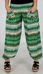 Pantalon d'�t� pour Femme Large et Original Bastia Vert 277731