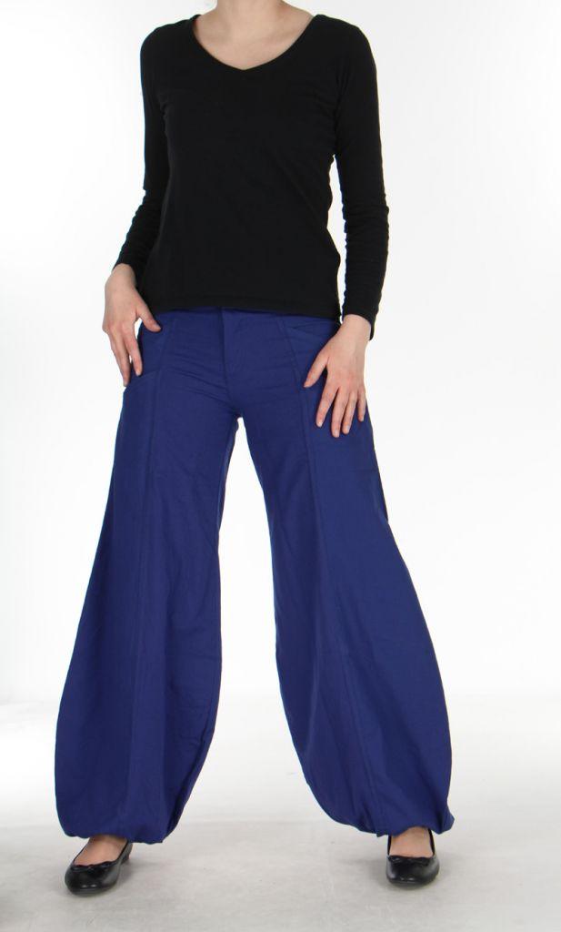 Pantalon ethnique bleu nuit Gulika 269944