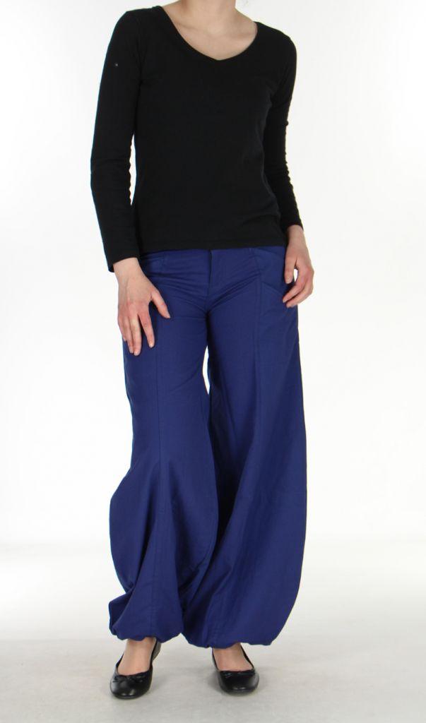 Pantalon ethnique bleu nuit Gulika 269945