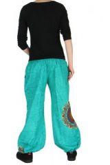 Pantalon ethnique bleu Zélie 268236