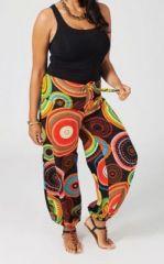 Pantalon ethnique grande taille color� Aby 270700