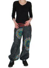 Pantalon ethnique noir Zélie 268223