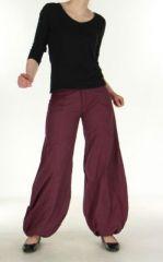 Pantalon ethnique prune Gulika 269953