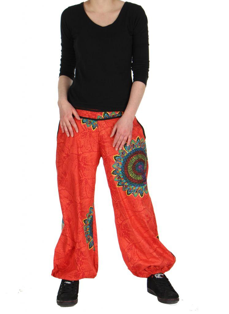 Pantalon ethnique rouge Zélie 268227