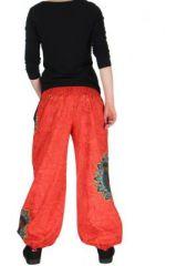 Pantalon ethnique rouge Zélie