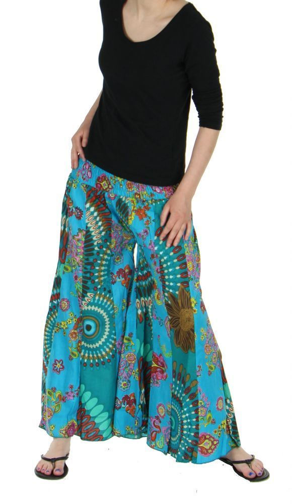 pantalon extra large pattes d 39 l phant bleu. Black Bedroom Furniture Sets. Home Design Ideas