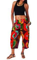 Pantalon femme 3/4 imprim� color� Adhara 267461
