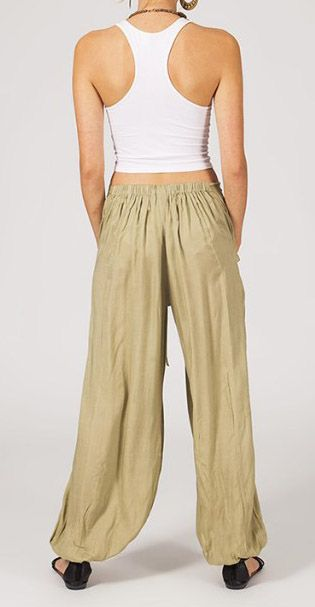 Pantalon femme ample Karime beige 268098