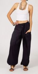 Pantalon femme ample Karime noir 268099