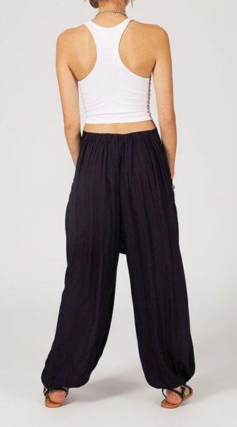 Pantalon femme ample Karime noir 268100