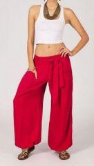 Pantalon femme ample Karime rouge 268101