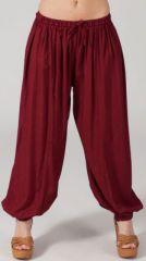 Pantalon femme bouffant Ethnique et Original Gilian Bordeaux 274621