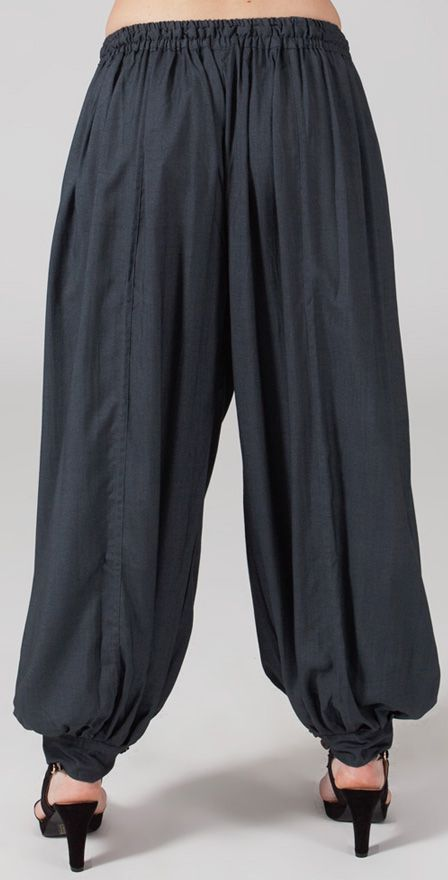 Pantalon femme bouffant Ethnique et Original Gilian Gris 274625