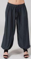 Pantalon femme bouffant Ethnique et Original Gilian Gris 274626