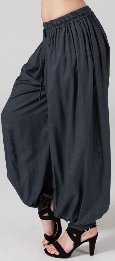 Pantalon femme bouffant Ethnique et Original Gilian Gris 274627