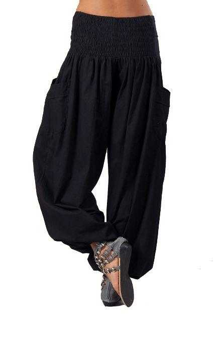 Pantalon femme bouffant noir Audric 267435