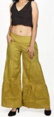 Pantalon femme d'été original et pas cher Vert Cassio 272203