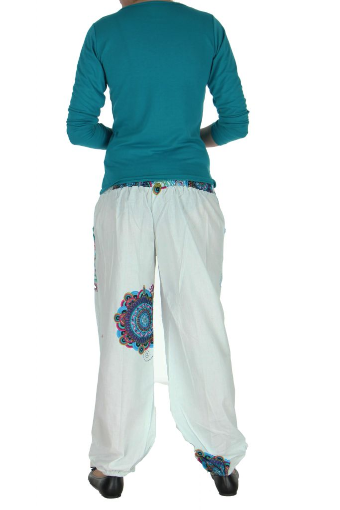 Pantalon femme de plage blanc Ginny 267610