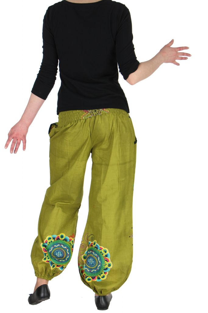 Pantalon femme de plage kaki Ginny 267612