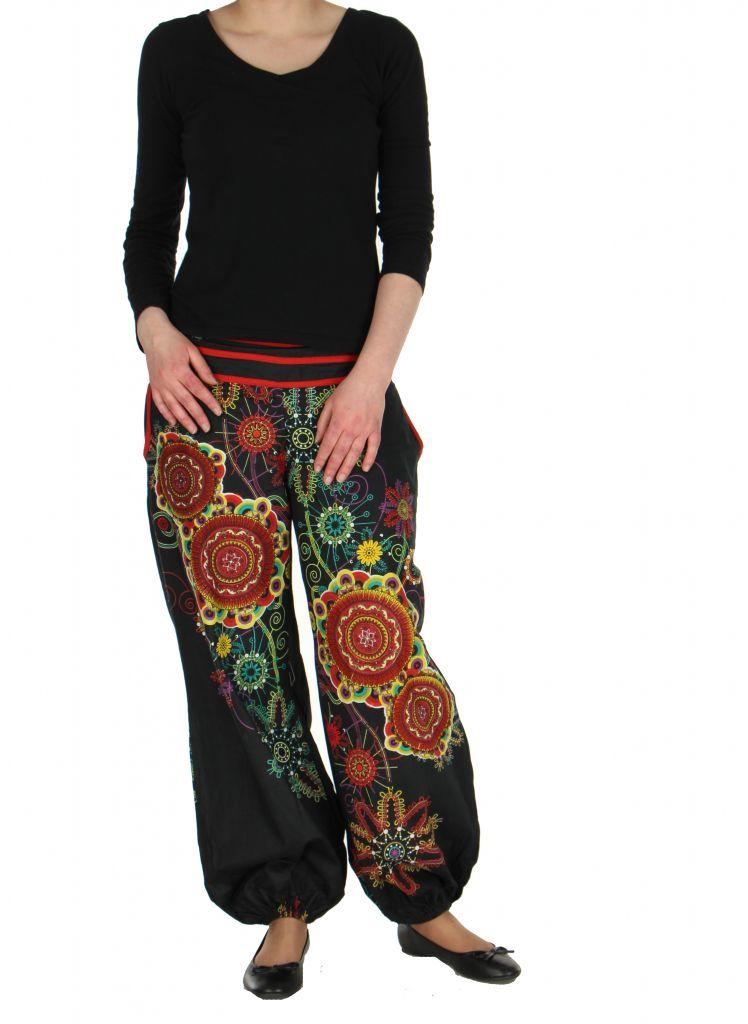 Pantalon femme de plage noir Ginny 267607