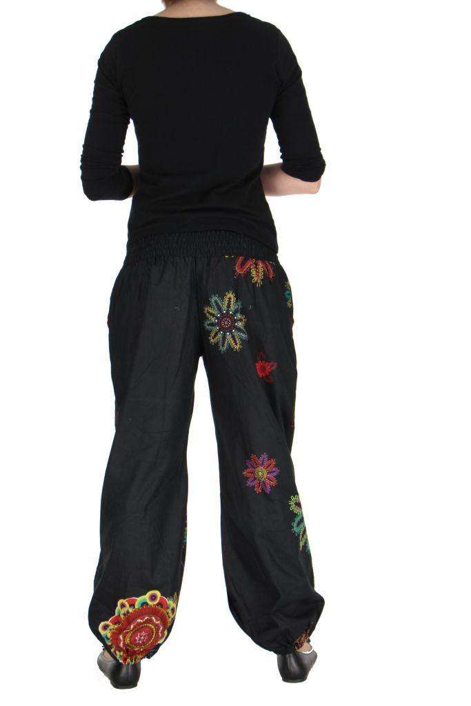 Pantalon femme de plage noir Ginny 267608