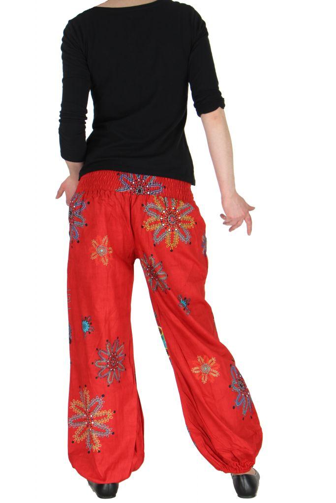 Pantalon femme de plage rouge Ginny 267606
