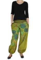 Pantalon femme de plage turquoise Ginny 267611