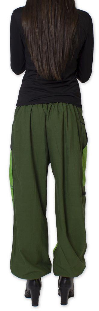 Pantalon Femme Ethnique et Coloré Narmadal Vert 275880