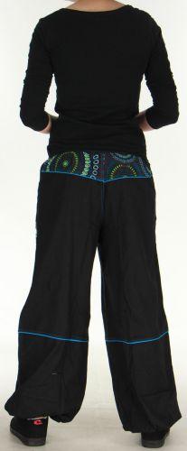 Pantalon femme Ethnique et Original du Népal Kerim Bleu 275568