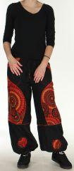Pantalon femme Ethnique et Original du N�pal Kerim Rouge 275571