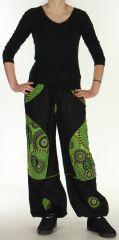 Pantalon femme Ethnique et Original du Népal Kerim Vert 275569
