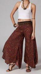 Pantalon femme évasé ethnic Diamian 269200