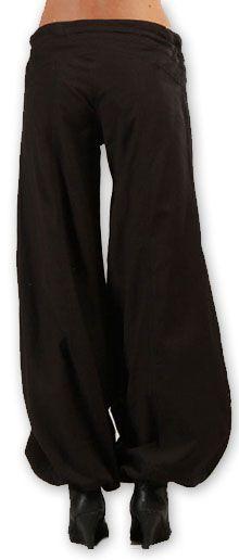 Pantalon femme évasé Original et Pas cher Sofi Noir 274510