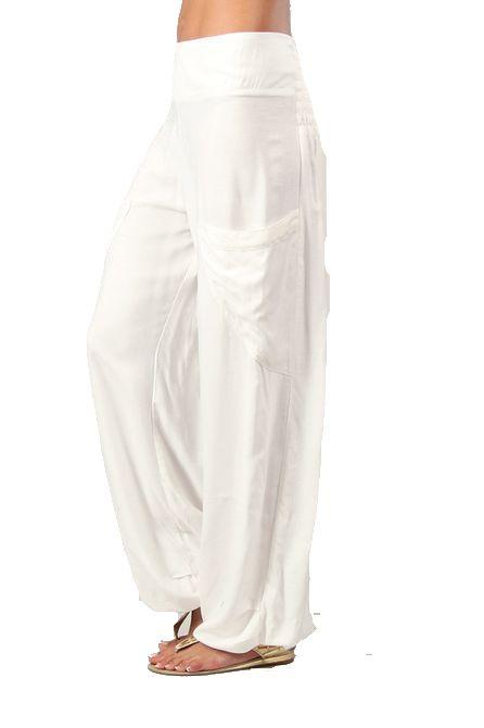 Pantalon femme fluide blanc Cédric 267548