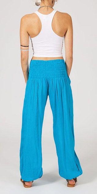 Pantalon femme fluide bleu Danny 268051