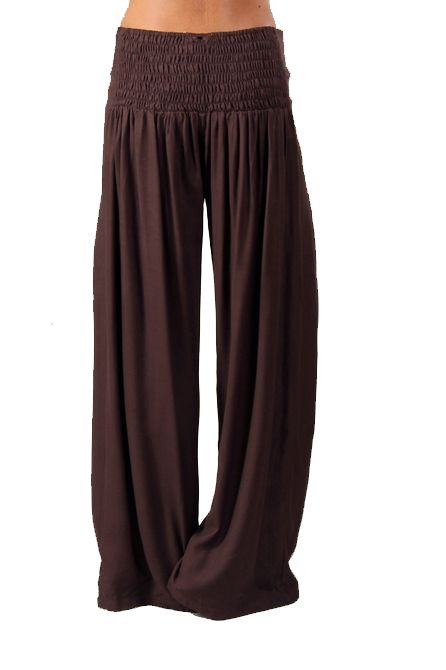 Pantalon femme fluide marron Cédric 267549