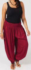 Pantalon femme grande taille type Aladin Edene Bordeaux 274801