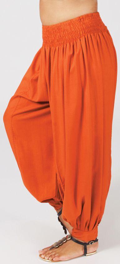 Pantalon femme grande taille type Aladin Edene Rouille 274805