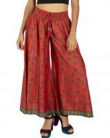 Pantalon femme imprimé à fleurs ethnique chic Johnas