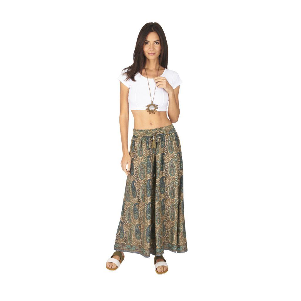 Pantalon femme large chic ethnique bohème Anastasia 317115