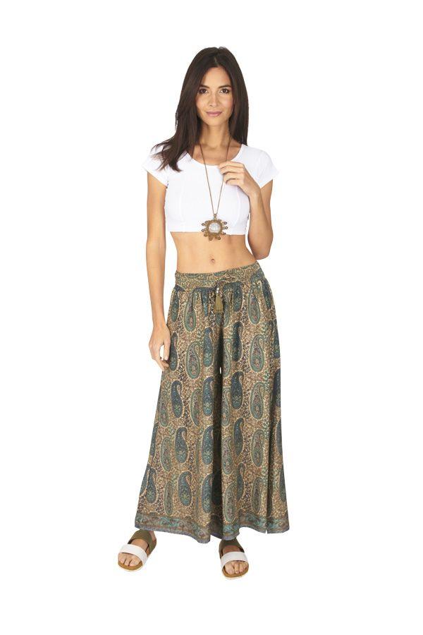 Pantalon femme large chic ethnique bohème Anastasia 317117