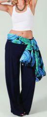 Pantalon femme large Ethnique et Agr�able Glenn Bleu marine 274714
