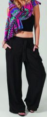 Pantalon femme large Ethnique et Agréable Glenn Noir 274713