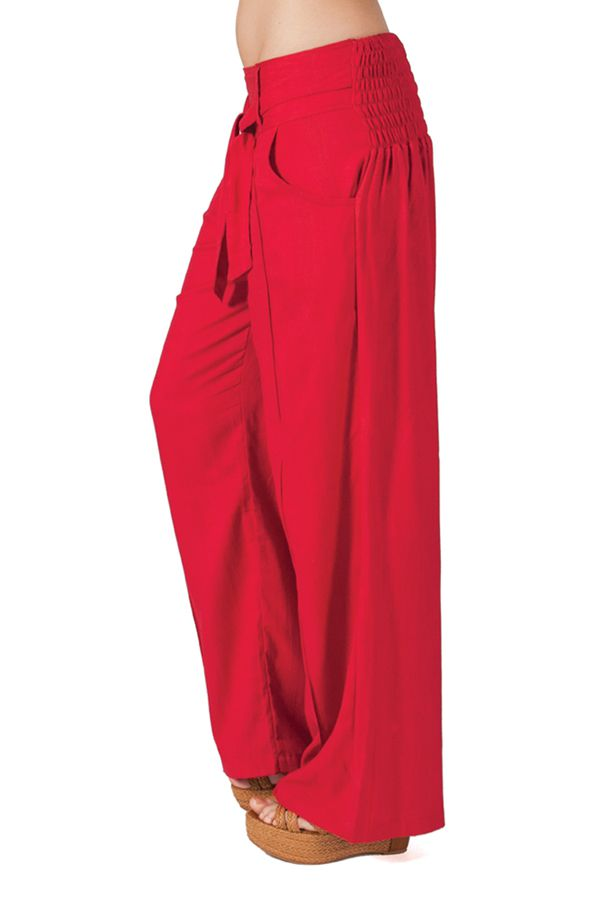 Pantalon femme large Ethnique et Agréable Glenn Rose Foncé 282275