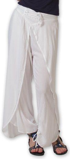 Pantalon femme large ethnique et original Blanc Viet 273635