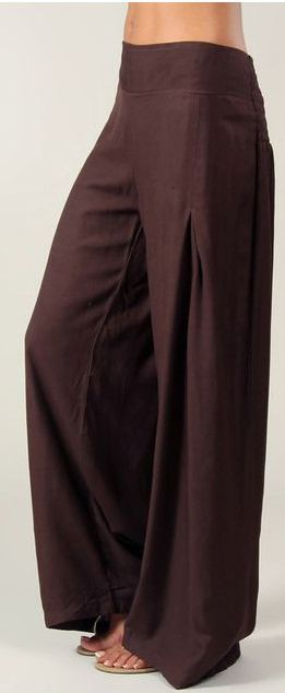 Pantalon femme large Ethnique et Original Giovan Chocolat 274669