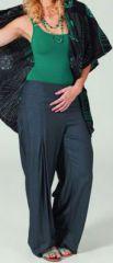Pantalon femme large Ethnique et Original Giovan Gris fonçé 274670