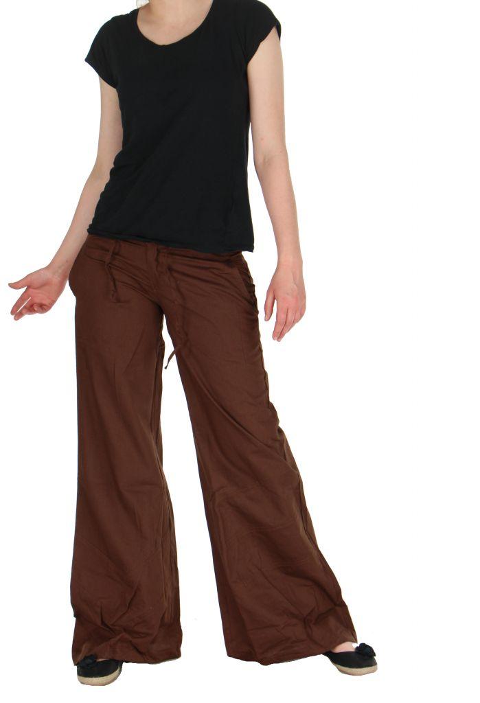 Pantalon femme marron emily 262439