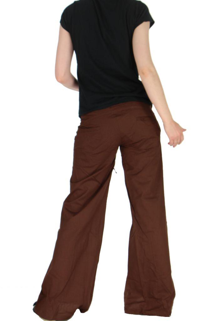 Pantalon femme marron emily 262442