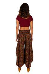 Pantalon fluide imprimé patte d'eph pour femme Naomie 309734